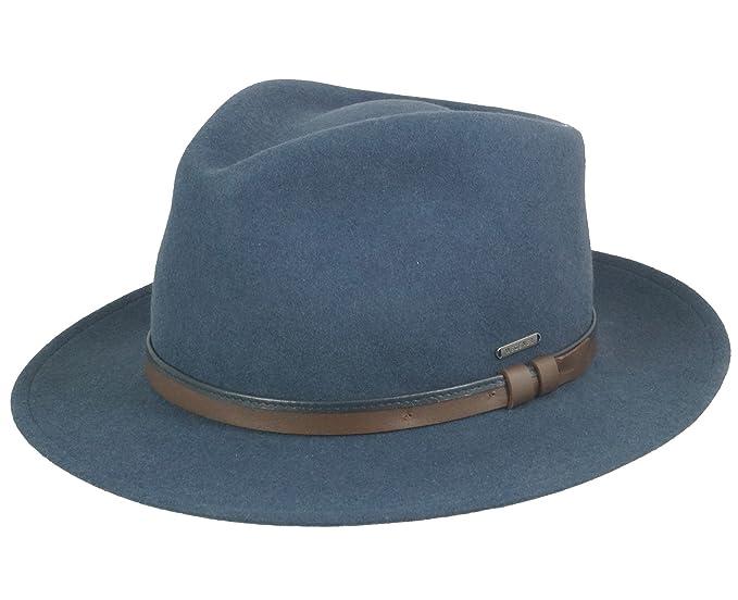 Wegener - Sombrero de Vestir - para Hombre Azul Azul M  Amazon.es  Ropa y  accesorios 4082d6f4f86