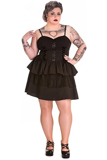 Amazon Spin Doctor Plus Size Black Gothic Azrael Velvet Lace Up