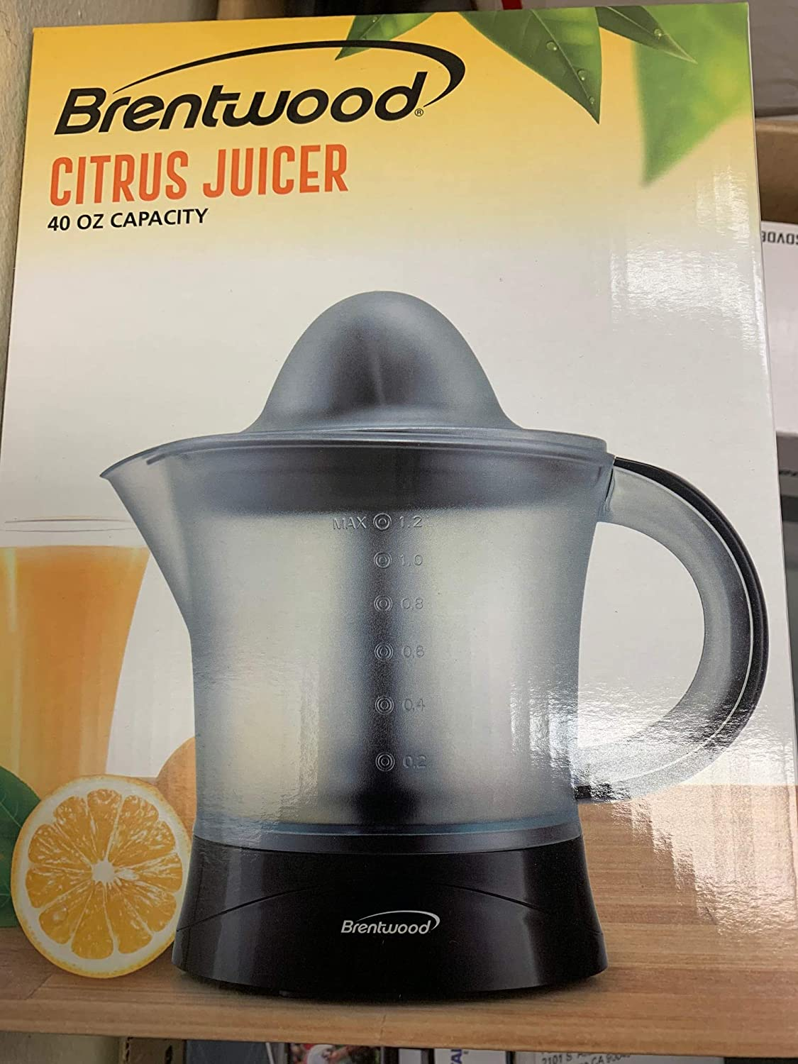 Brentwood Appliances J17BK 40-Ounce Electric Citrus Juicer (Black)