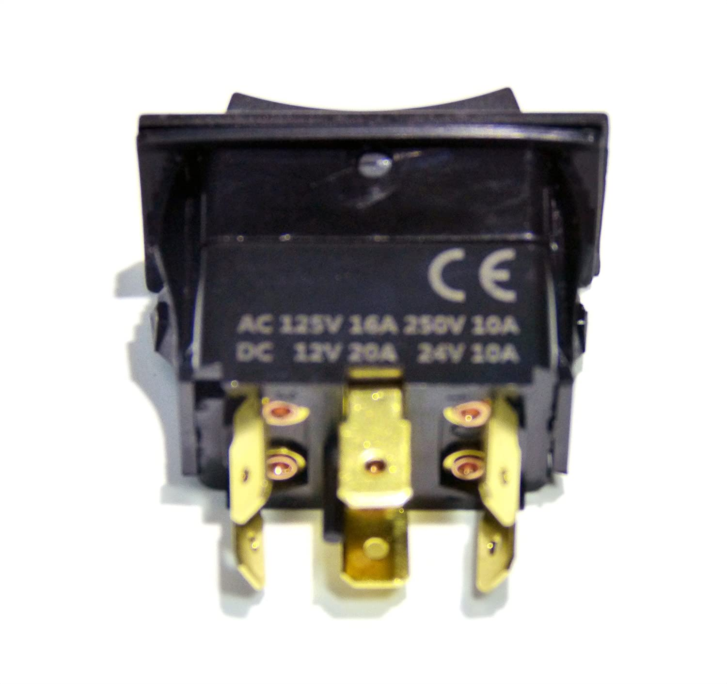 Genssi Rocker Switch On Off Momentary Type Dpdt 30a 2 Way Automotive