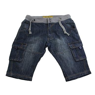 Mens Denim Casual Shorts With Elasticated Waist (Waist 30inch ...