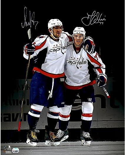 a44595ca77c Alex Ovechkin   T.J. Oshie Washington Capitals Autographed 16 quot  x  20 quot  Spotlight Photograph -