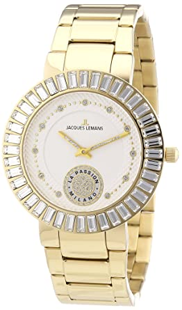 Armbanduhr damen gold  Jacques Lemans Damen-Armbanduhr Milano Analog Gold 1-1683F: Amazon ...