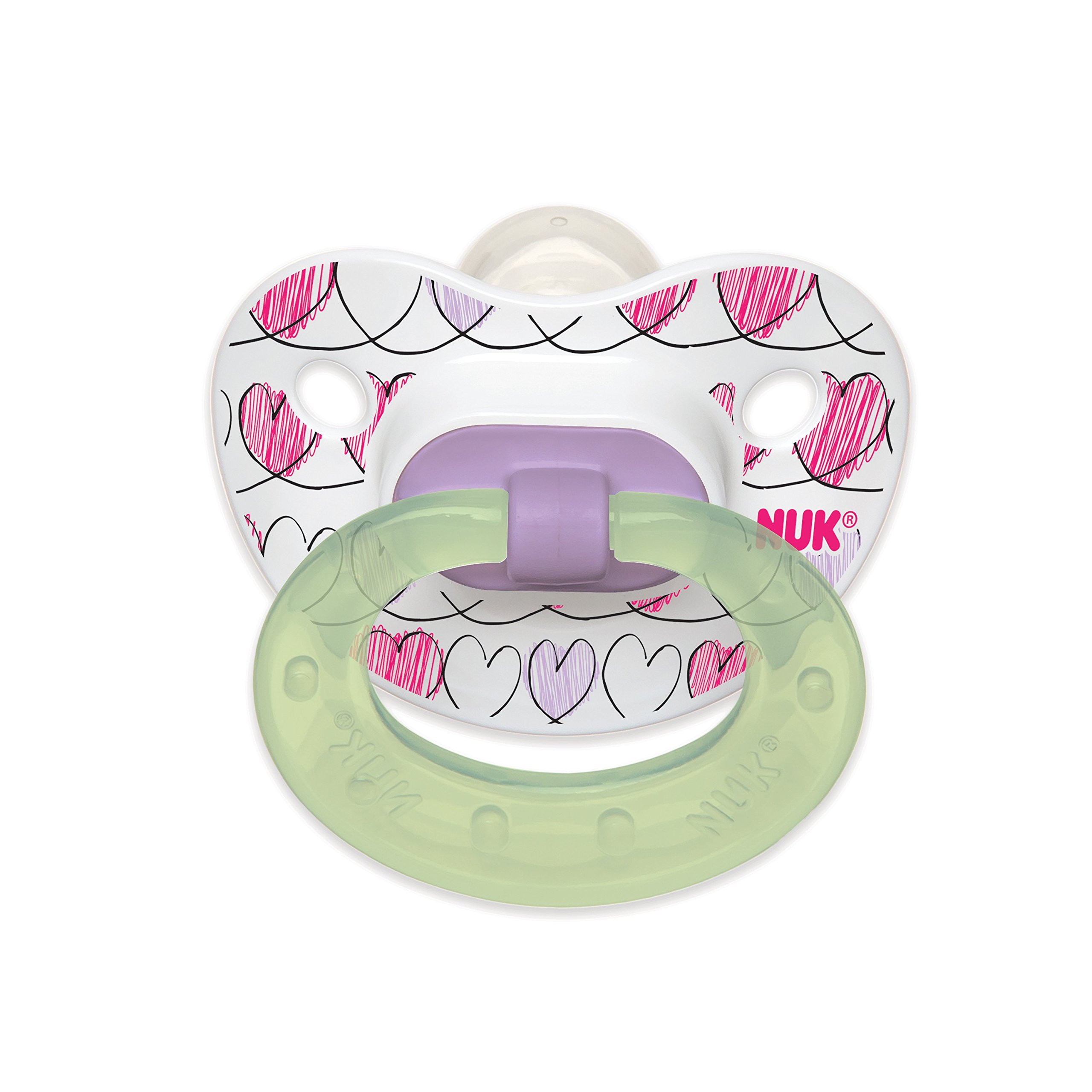 Amazon.com : 4 NUK Binky Air Shield Orthodontic Pacifier, Girl ...