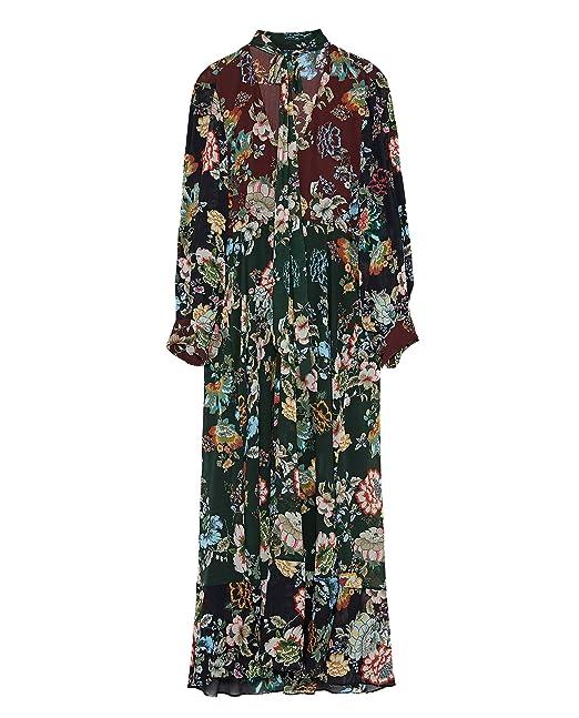 4a432ac9 Zara Women Printed long flowing dress 8542/875 (Medium): Amazon.ca ...