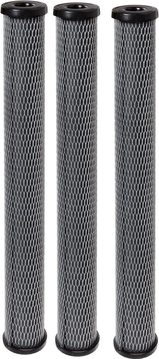 20 x 2-1//2 3-Pack Pentek C1-20 Carbon-Impregnated Cellulose Filter Cartridge 5 Micron
