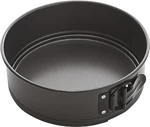 MASTERPRO MPHB19 Round Cake Pan, Carbon Steel/Black