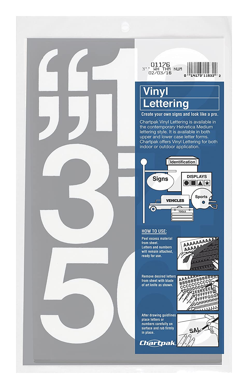 Amazon.com: Chartpak Self-Adhesive Vinyl Numbers, 3 Inches High ...
