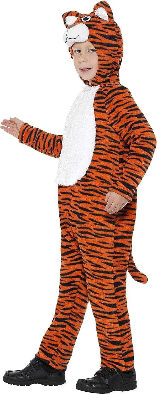 Smiffys Costume tigre orange et noir avec combinaison /à capuche et queue