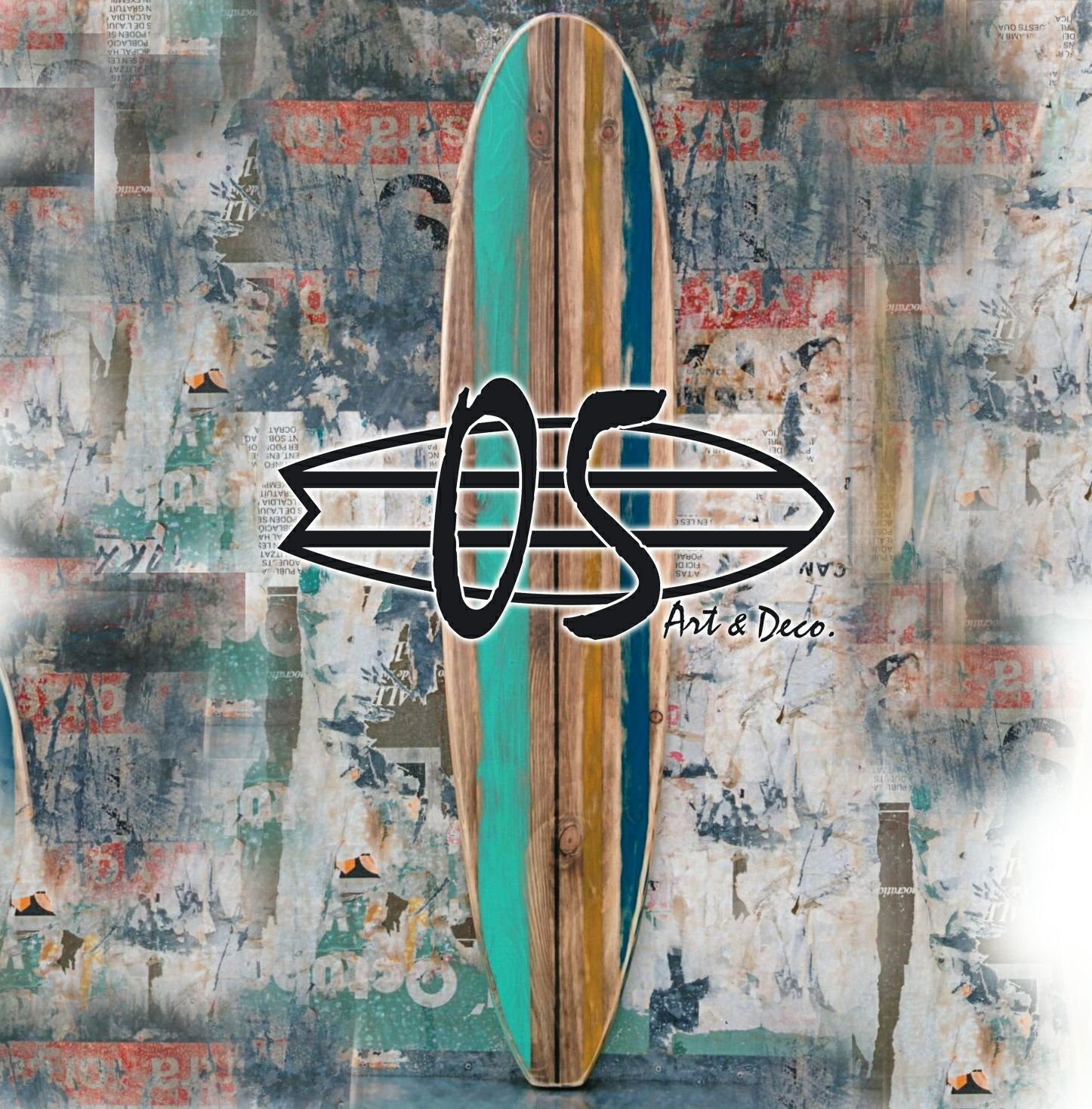 TABLA SURF DE DECORACIÓN LONGBOARD ORIGINAL VINTAGE DE PARED: Amazon.es: Hogar