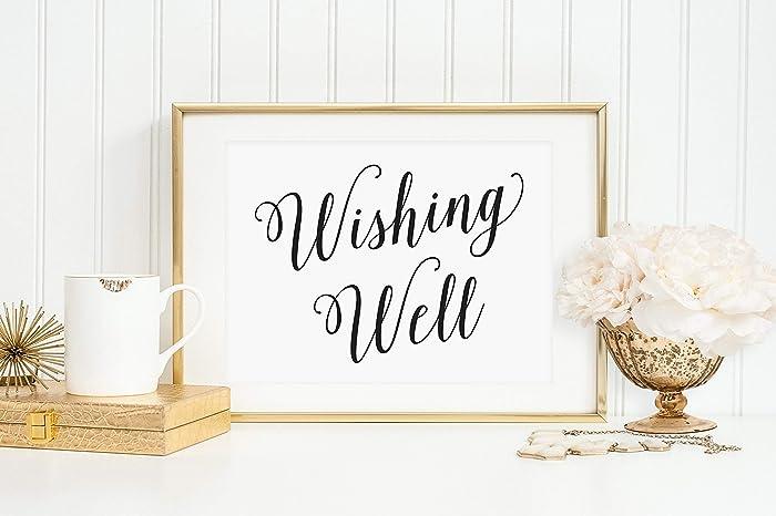 wedding wishing well sign wedding wishing well wedding well wishes for the bride and