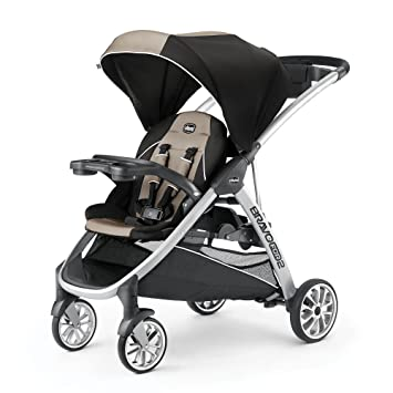 Amazon.com : Chicco BravoFor2 Standing/Sitting Double Stroller (Champagne) : Baby