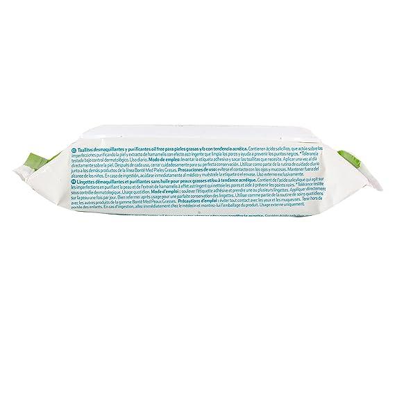BONTE toallitas desmaquillantes y purificantes piel grasa o con acné 20 uds: Amazon.es: Belleza