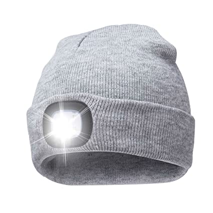 777b2d5aa1a A.S Unisex 4 LED Knitted Beanie Hat for Camping