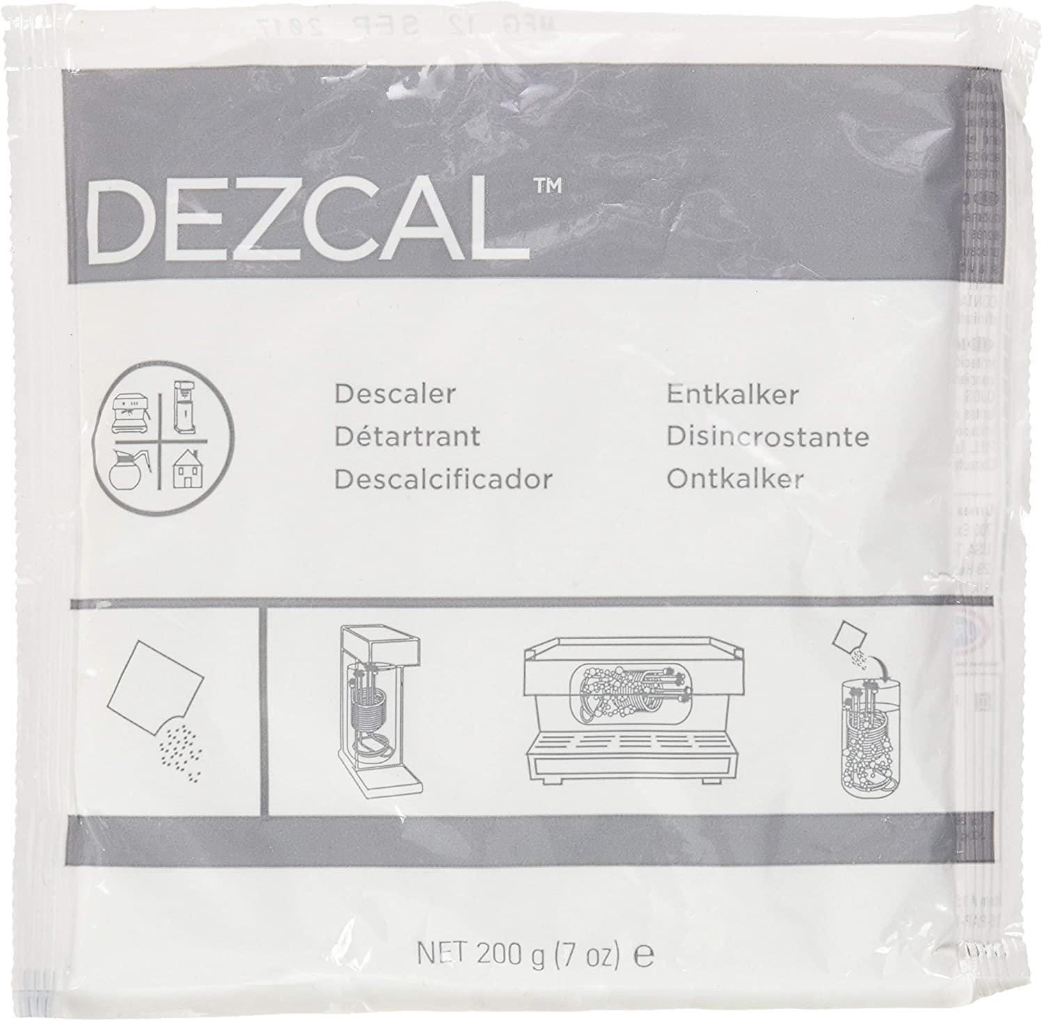 Urnex Dezcal Activated Scale Remover - 7 oz - For Use on Commercial Boilers and Heating Elements of Coffee and Espresso Equipment