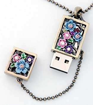 Amazon.com: 8 GB unidad flash USB de joyería/collar o ...