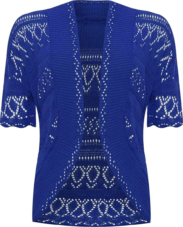 26b698305e Ladies Knitted Bolero Crochet Cardigan Shrug at Amazon Women s Clothing  store