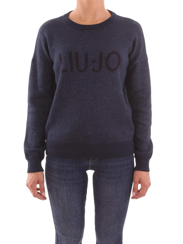 Liu Jo Liu-Jo Maglioncino Blu Notte con Logo Nero.