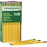 Ticonderoga No. 2/HB Soft Pencils, 72-Count, Cello Wrapped (Wood Case, Black Writing) in Yellow (33904)