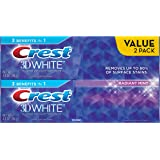 Crest 3D White Radiant Mint Whitening Toothpaste, 4.8 oz ,2 Count