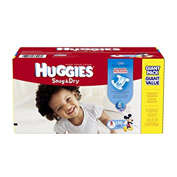 Amazon.com: Huggies Snug and Dry Diapers, Size 5, 120 Count ...