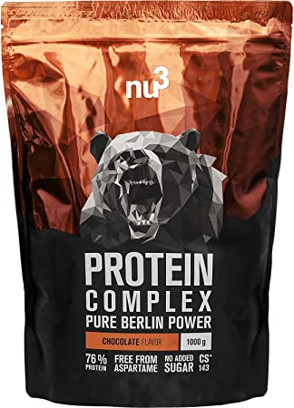 nu3 Protein Complex Chocolate | 1kg de polvo | 76% (22,8g) de proteína por dosis | Whey protein, proteína de suero, BCAA y 18 aminoácidos | Suplemento ...