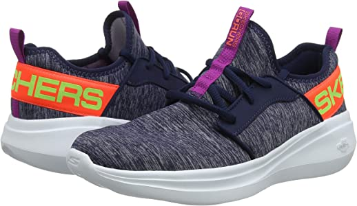 Skechers Womens Go Run Fast Trainers, Blue (Navy Textile/Multi Trim Nvmt), 3 UK (36 EU): Amazon.es: Zapatos y complementos