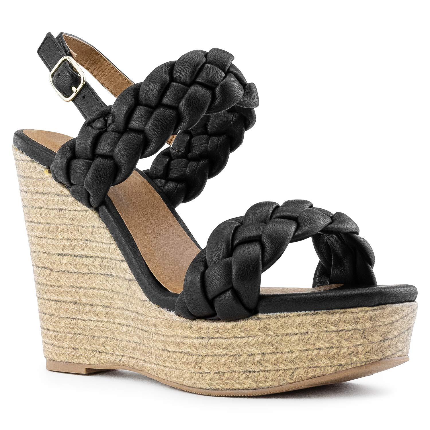 1a2e38dd3 Amazon.com | RF ROOM OF FASHION Open Toe Quilted Trim Espadrille Platform  Wedge | Platforms & Wedges