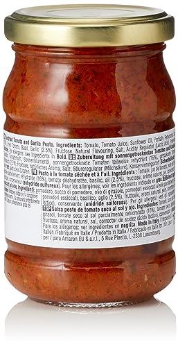 Marca Amazon - Wickedly Prime Pesto de tomate seco al sol y ajo (6x190g): Amazon.es: Alimentación y bebidas