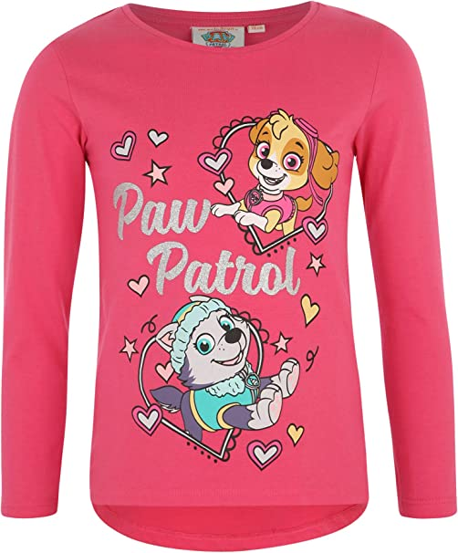 Paw-Patrol M/ädchen Langarmshirt