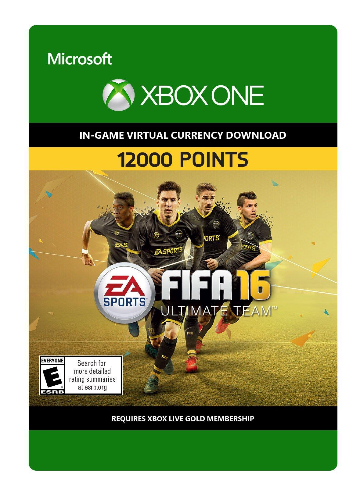 FIFA 16 12,000 FIFA Points - Xbox One Digital Code