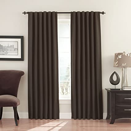 Eclipse 11353052108MSH Fresno 52 Inch By 108 Blackout Single Window Curtain Panel