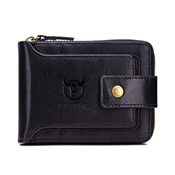 Soft Black Leather Credit Card Holder Pouch Purse Wallet RFID Blocking