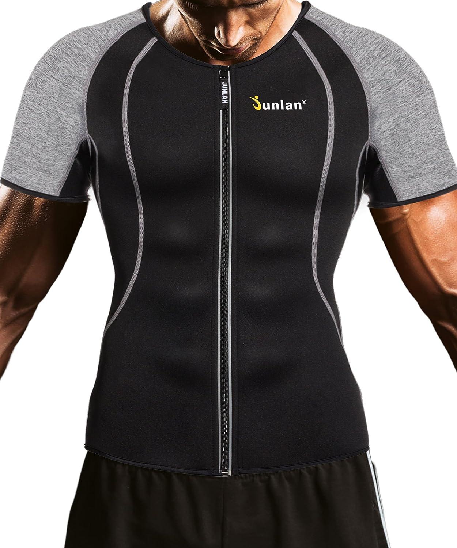 : Junlan Men Weight Loss Shirt Workout Neoprene