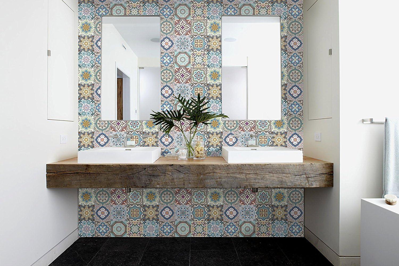 - Amazon.com: MARRUECOS Decorative Tile Stickers Set 12 Units 6x6