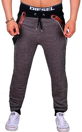 Schwarze Jogging Hose Herren lang | Sweat Hose aus 100% Baumwolle | gemütliche Sport hose mit Rippstrickbündchen | enger Beinabschluss |Trainings Hose