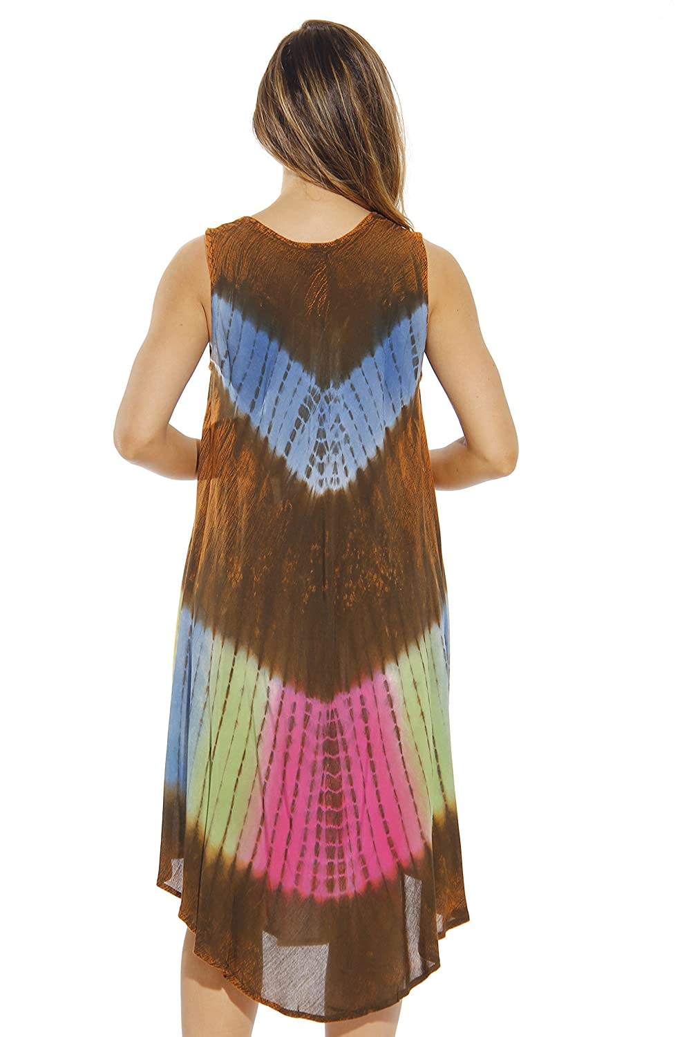 335828a6d108c Riviera Sun Summer Dresses Tie Dye Embroidered Beach Swimsuit Cover ...