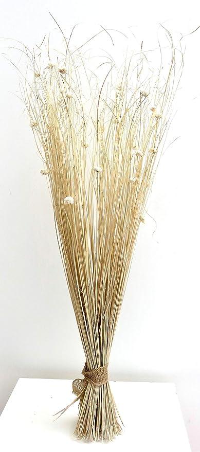 Juego de s/ábanas crema secas y artificiales de 95 cm de alto listo para un jarr/ón