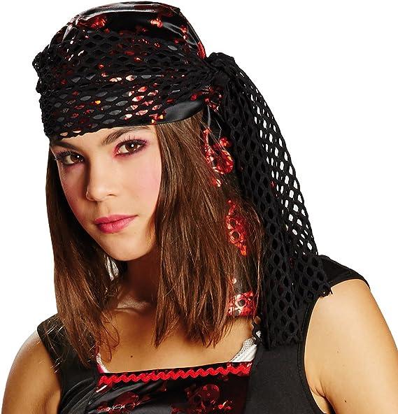 Pañuelo de cabeza pirata, disfraz para carnaval.: Amazon.es ...