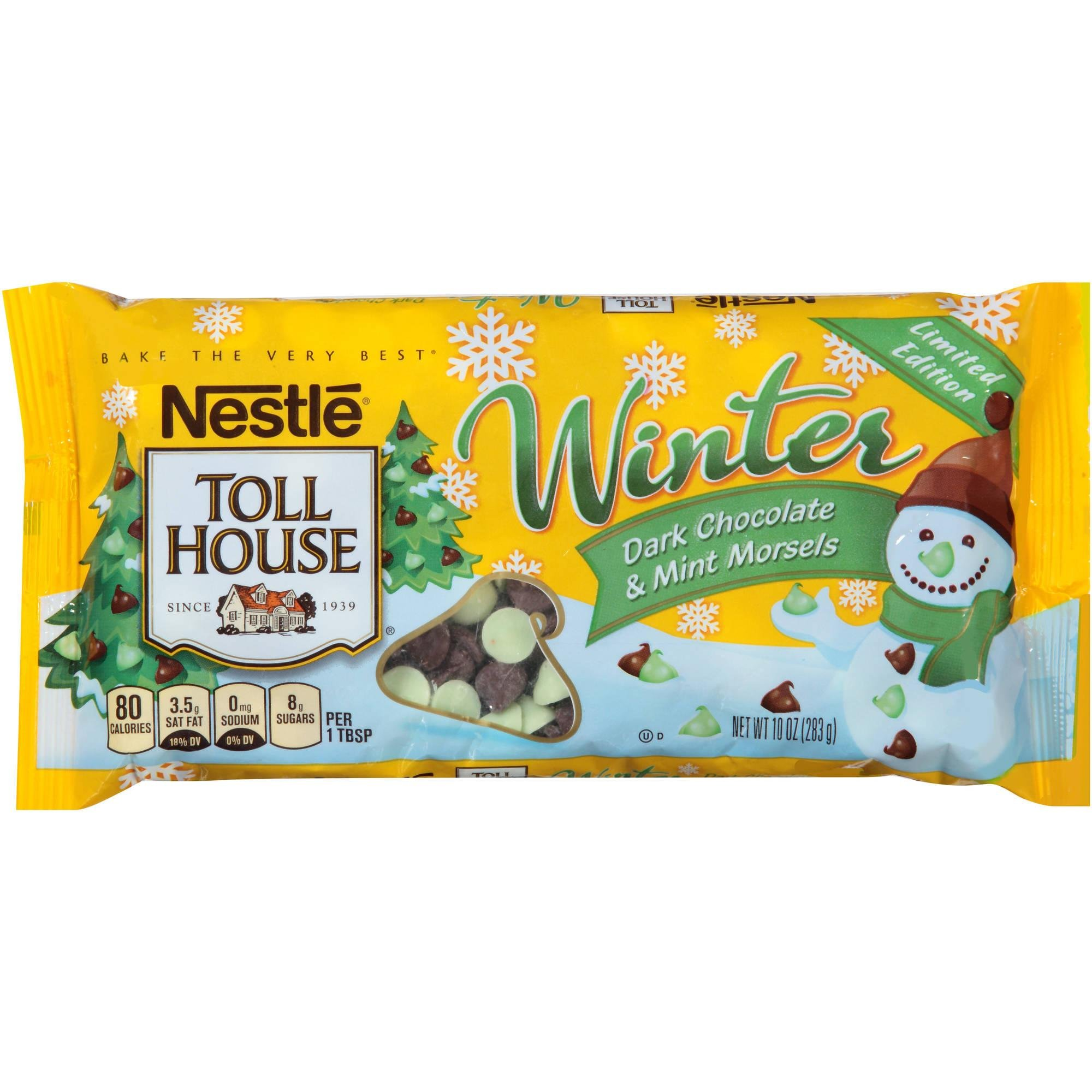 Nestle Winter Theme Limited Edition Dark Chocolate Chips and Mint, 10 ounces (Pack of 2)