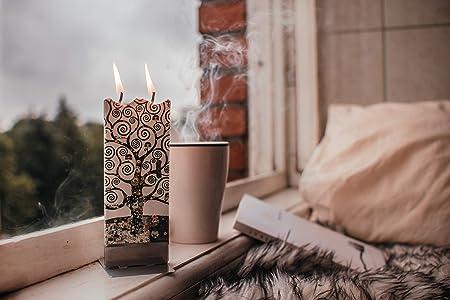 Bougie Decoration Maison Fait /À La Main Bougie de No/ël Bonhomme et M/ésange charbonni/ère sans Parfum Plate Un Bougie Cadeau D/'Exception Bougie Decorative