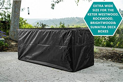 Patio Deck Box Cover to Protect Large Deck Boxes 62 L x 30 W x 28 D