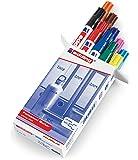 Edding 3000-999 - Estuche con 10 marcadores permanente, multicolor