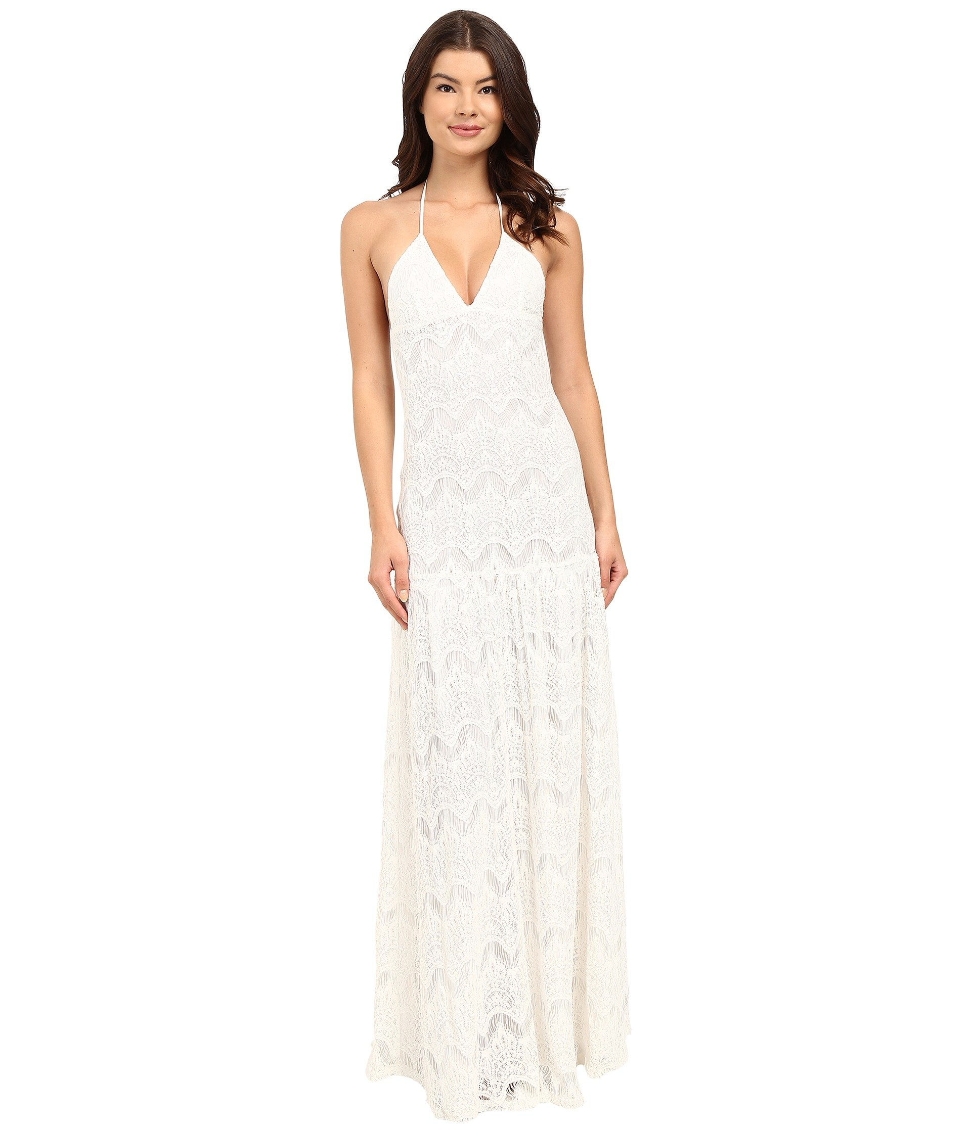 6 Shore Road by Pooja Women's Lace Someone Special Wedding Dress Cover-Up Moonlight White Large