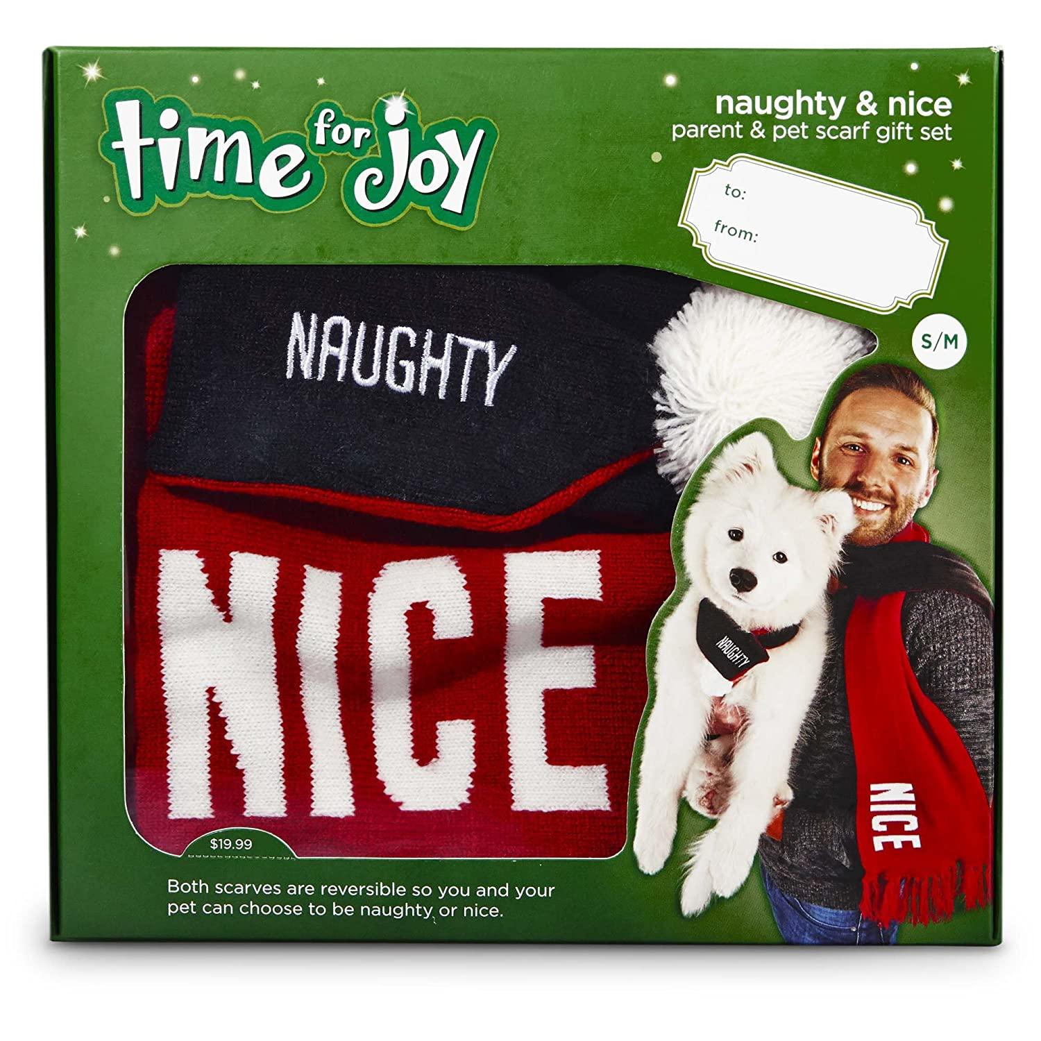 Amazon.com : Time for Joy Naughty and Nice Parent and Pet Gift Set ...
