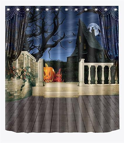 Amazon LB Haunted Country Farm House Shower Curtains Bathroom
