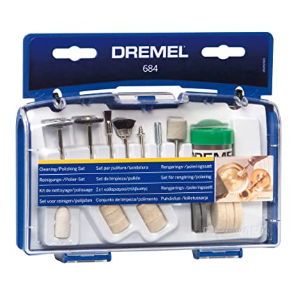 Dremel 684-01 20-Piece Clean & Polish Rotary Tool Accessory Kit With