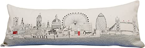 Amazon Com Beyond Cushions London England Daytime Skyline Queen Size Embroidered Pillow Home Kitchen