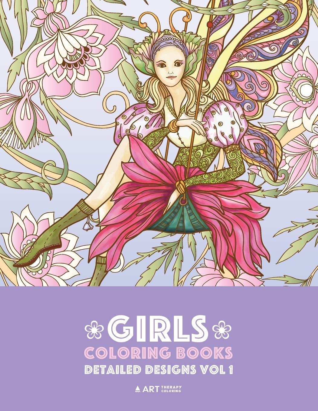 Girls Coloring Books Detailed Designs Vol 1 Complex Coloring