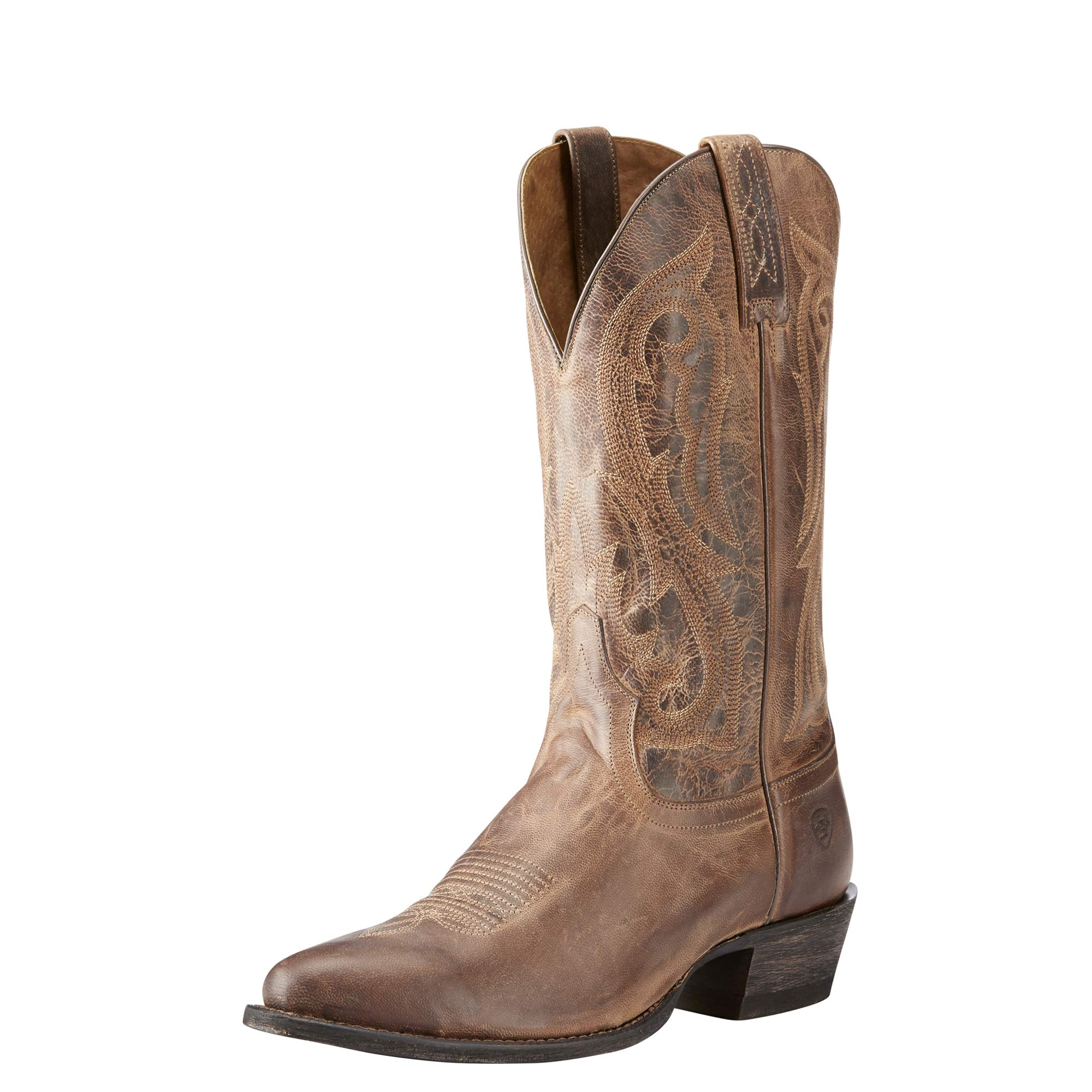 ARIAT Men's Circuit R Toe Western Boot, Warm Stone, 9.5 E US by ARIAT